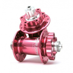CHRIS KING BIKE BICYCLE ISO DISC HUB SET 6BOLT PINK