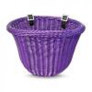 Colorbasket Cord Strap-on Front Handlebar Bike Basket Purple