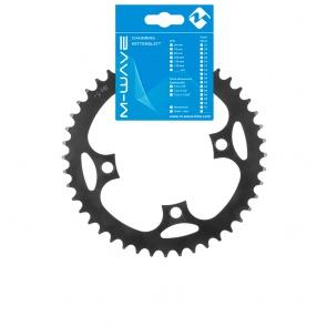 """M-Wave E-Bike Chainring 1 / 2x3 / 32 """"42T black"""