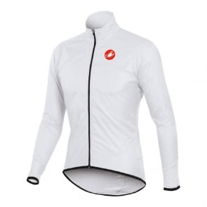 Castelli Squadra Long Jacket Bicycle Cycling White