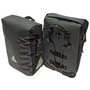AXIOM MONSOON AERO DLX 35 PANNIER SET GREY/BLACK