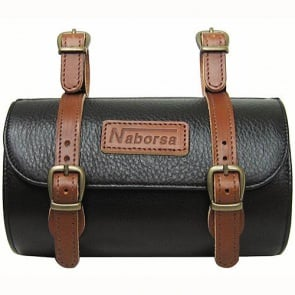 BicycleHero Bicycle leather Bag black Cylinder type