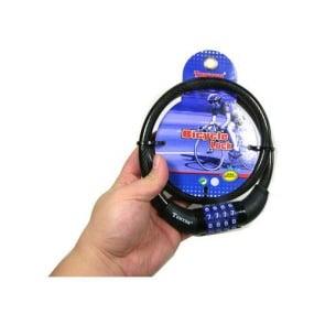 [Bicycle Hero] 自転車 じてんしゃ 4 Digit Lock(桁のロック) PVC コーティング12X800mm