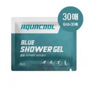 AQUACOOL Blue Shower Gel 6mlx30ea