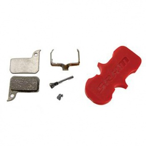 ORGANIC/STAINLESS DISC BRAKE PADS w/ BLEED BLOCK