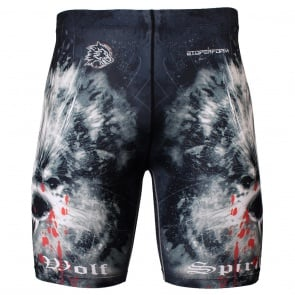 Btoperform Wolf Spirit Full Graphic Compression Shorts FY-310