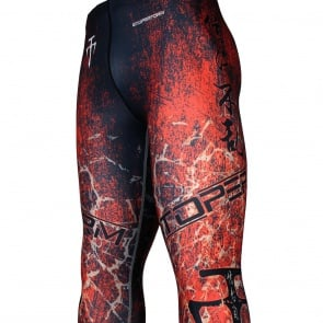 GRUNGE -Red [FY-107R] Full graphic compression leggings