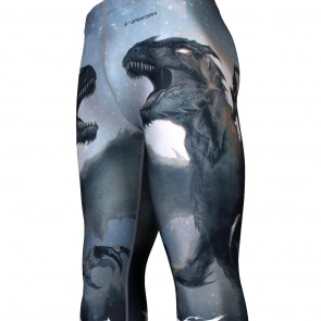 DRAGON KNIGHT [FY-114] Full graphic compression leggings