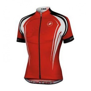castelli energia red short sleeve Jersey
