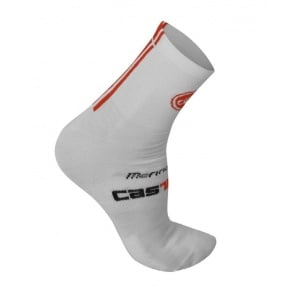 Castelli Mezza wool 9 sock cycling bicycle White