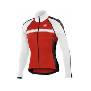 Castelli Pazzo Jacket Winter bicycle cycling White red