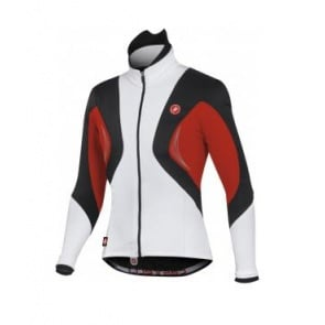 Castelli Stelvio WS jacket cycling windstop white black red
