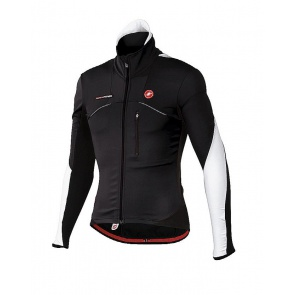 Castelli Trasparente wind jersey FZ cycling black white