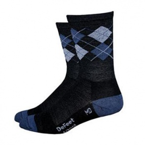 "Defeet Wooleator 5"" Argyle Grey Sock"