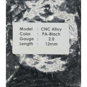 CN spoke Alloy Color Nipples 50pcs 2.0x12mm Black