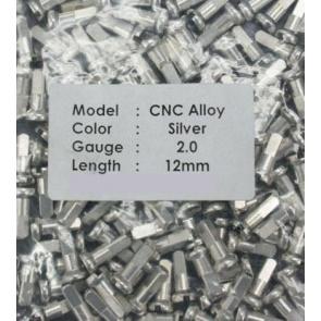 CN spoke Alloy Color Nipples 50pcs 2.0x12mm Silver