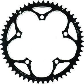"""ACTION 130MM 53T BLK/SIL 3/32"""" RAMPED CHAINRING"""