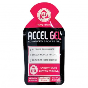 ACCEL GEL RASPBERRY CREAM w/ CAFFEINE 24/BOX