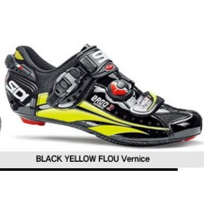 Ergo3 Carbon Road Bike Shoes black Yellow Fluo Vernice