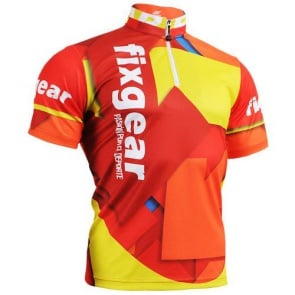 Fixgear Bicycle Cycling Mens Jersey Short Sleeves CS202