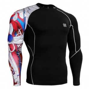 Fixgear Compression BaseLayer Skin Tight Shirt CP-b19r