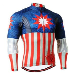 Fixgear Mens Bicycle Jersey Cycling Long Sleeves CSG3701