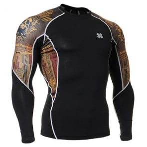 Fixgear Printed BaseLayer Compression Skin Top Tights C2L-B27-USGT