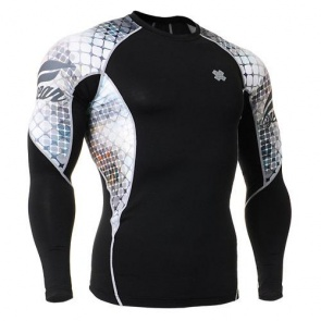 Fixgear Printed BaseLayer Compression Skin Top Tights C2L-B38-USGT