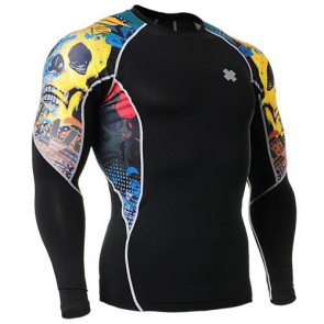 Fixgear Printed BaseLayer Compression Skin Top Tights C2L-B46-USGT