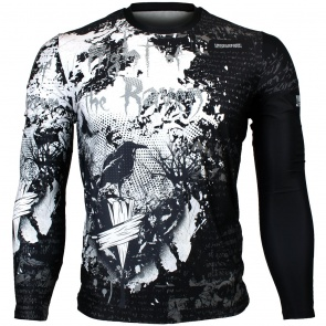Btoperform Night of the Raven Full Graphic Loose-fit Long Sleeve Crew neck Shirts FR-157
