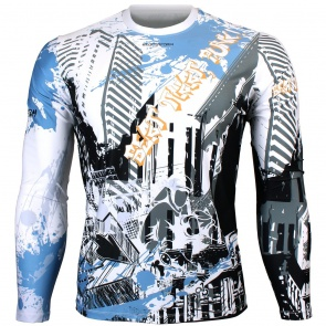 Btoperform Beat That Punk Full Graphic Loose-fit Long Sleeve Crew neck Shirts FR-160