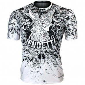 Btoperform Vendetta White Full Graphic Loose-fit Crew neck T-Shirts FR-355W