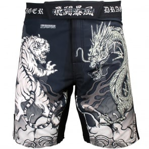 Btoperform Dragon Vs Tiger Full Graphic Mma Fight Cycling Shorts FS-36