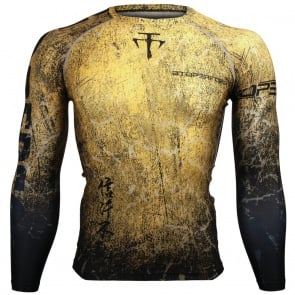 Btoperform Grunge Yellow FX-107Y Compression Top MMA Jersey Shirts