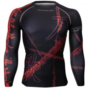 Btoperform A Song Of Sword Black FX-116K Compression Top MMA Jersey Shirts