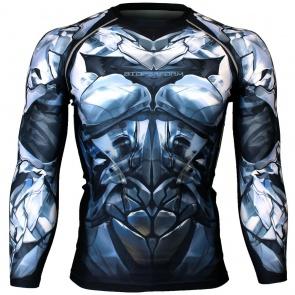 Btoperform Dark Knight - Titanium Full Graphic Compression Long Sleeve Shirts FX-135T