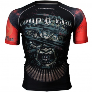 Btoperform Coup Detat Full Graphic Compression Short Sleeves Shirts FX-308