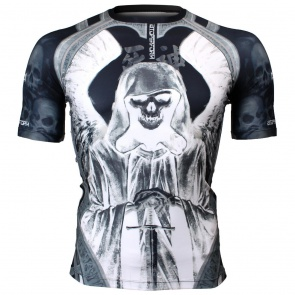 Btoperform God of Death Full Graphic Compression Short Sleeves Shirts FX-318