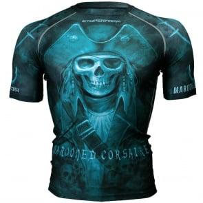 Btoperform Marooned Corsaire Full Graphic Compression Short Sleeves Shirts FX-312