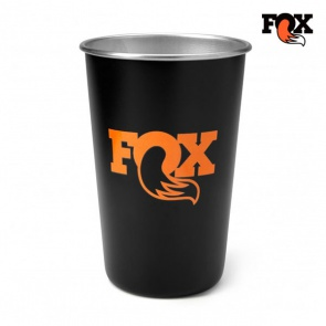 Fox Steel Pint Glass Stainless Black Cup