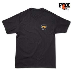 Fox Mens Racer Short Sleeves Black Tee Shirt