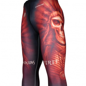MOHAWK SPIRIT -Red [FY-102R] Full graphic compression leggings