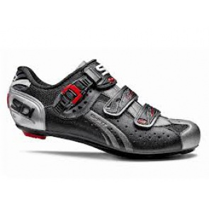 Sidi Genius5 Fit Road Bike Cycling Shoes Mega Black Titanium