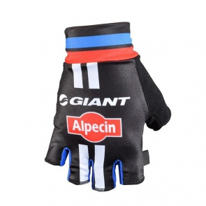 Giant Alpecin Team Half Finger Gloves