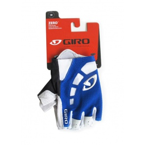 Giro Zero Bicycle Cycling Gloves Half Fingers Blue White