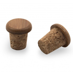 PDW BAMBOO CORK BAR END PLUGS MOUNTAIN