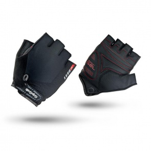 GripGrab Progel Short Finger Gloves-Black