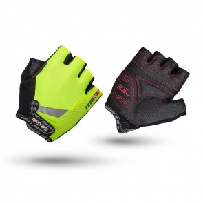 GripGrab Progel Hi-Vis Short Finger Gloves-Yellow
