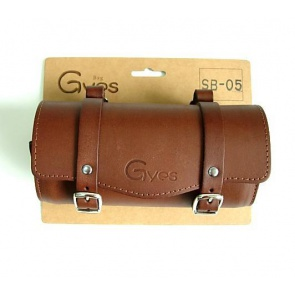 Gyes SB-05 Bicycle Leather Seat tool bag brown