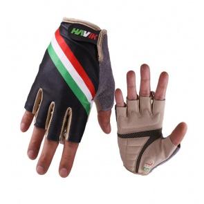 Havik 312 Flag Italia Black Half Finger Cycling Gloves
